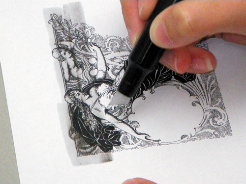 Using Solvent-Based Colorless Blenders to Transfer Images | Drawing with Markers