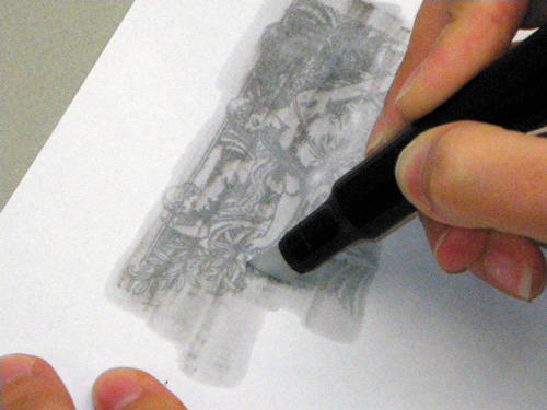 Transferring the Image to Another Piece of Paper | Drawing with Markers