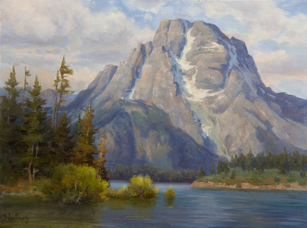 Mountain Landscape Painting How To Budget Your Canvas Space