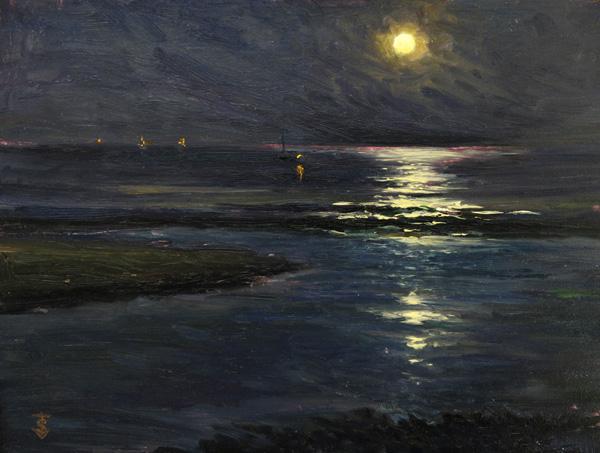 Oil Painter Thomas Van Stein How To Paint Night Scenes Artists Network