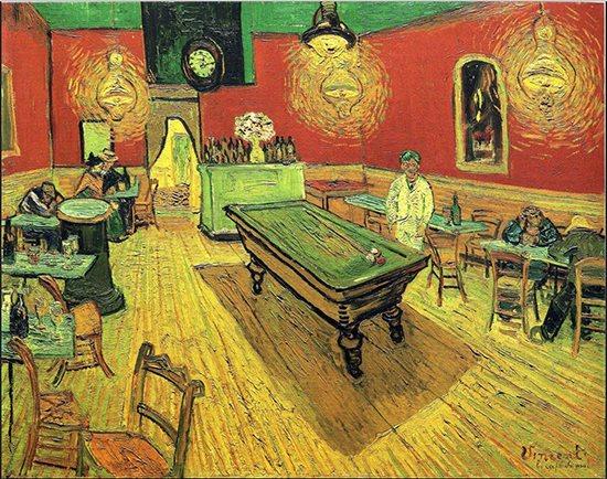 Das Nachtcafé von Vincent van Gogh, 1888.