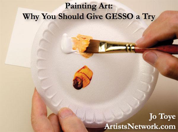 Qu'est-ce que le gesso ? Apprenez ici ! | Jo Toye, ArtistsNetwork.com