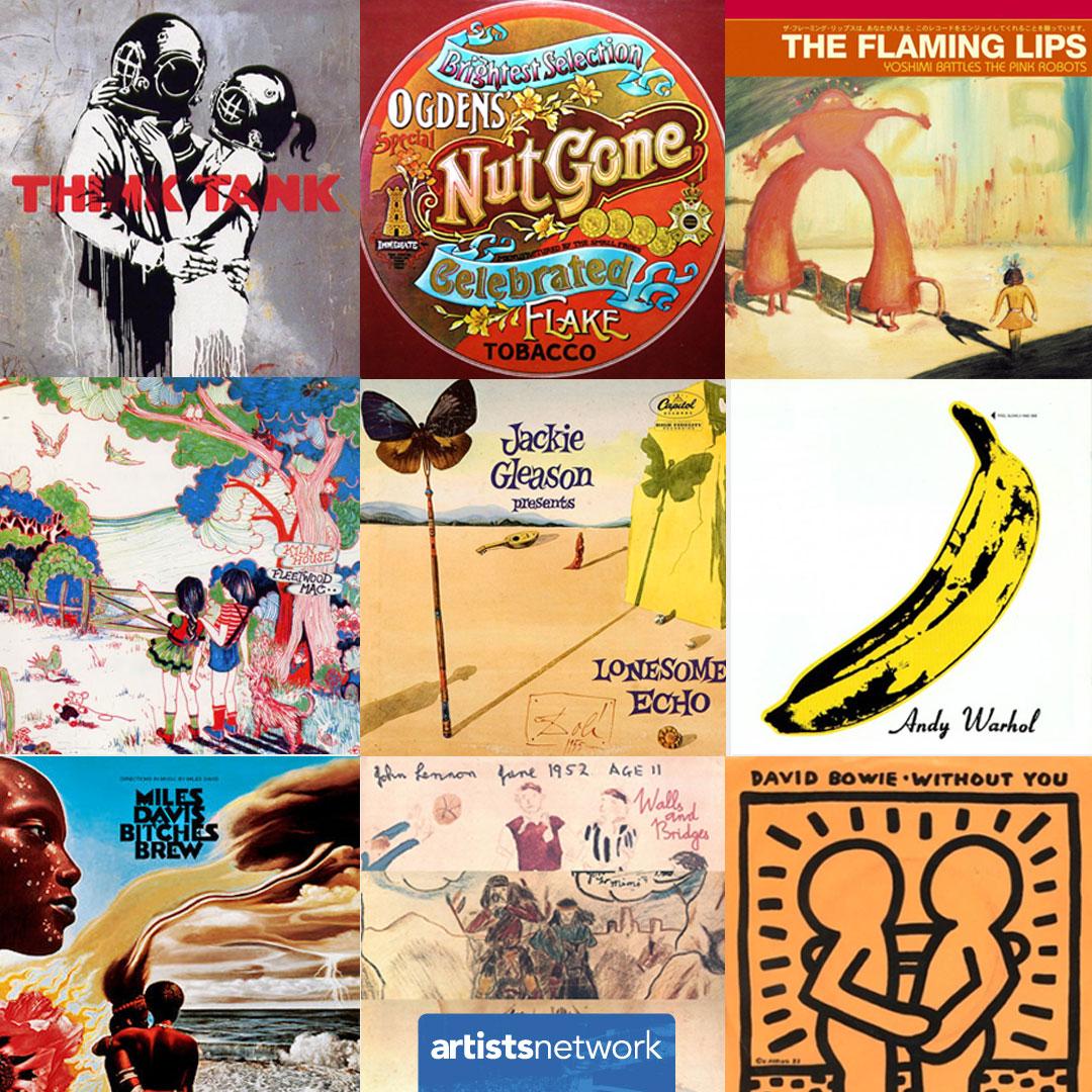 Album Covers Feature Famous Notable Art