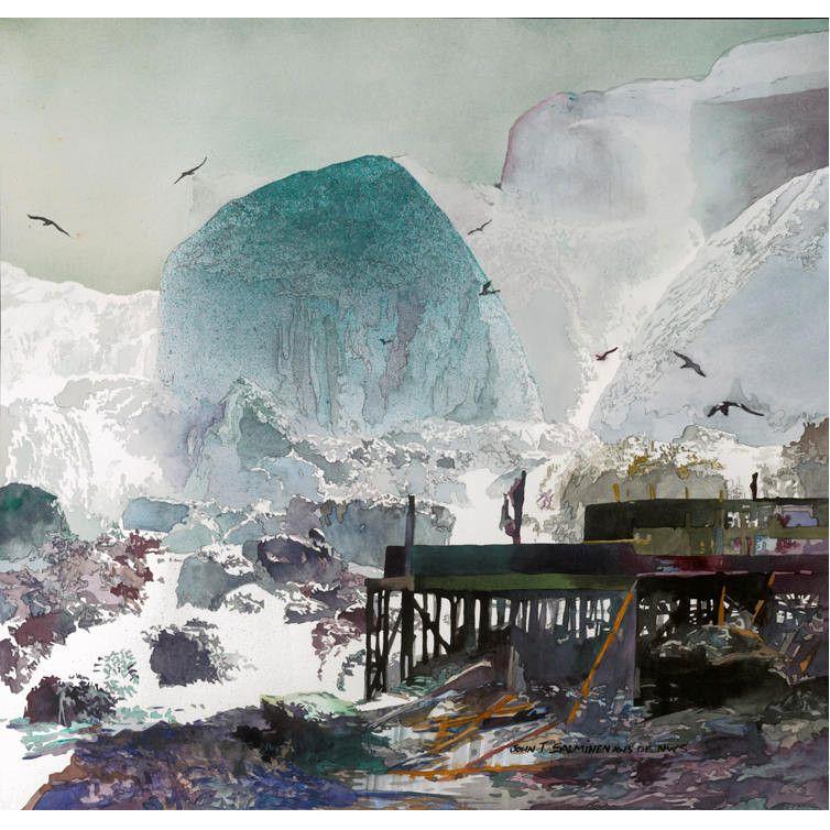 Niagara by John Salminen, watercolor painting.