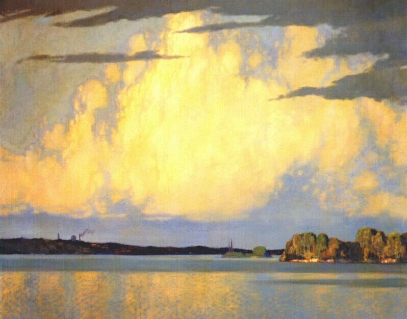 Serenity Lake of the Woods by Frank H. Johnston, 1922.