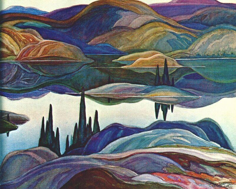Mirror Lake by Franklin Carmichael, 1929.