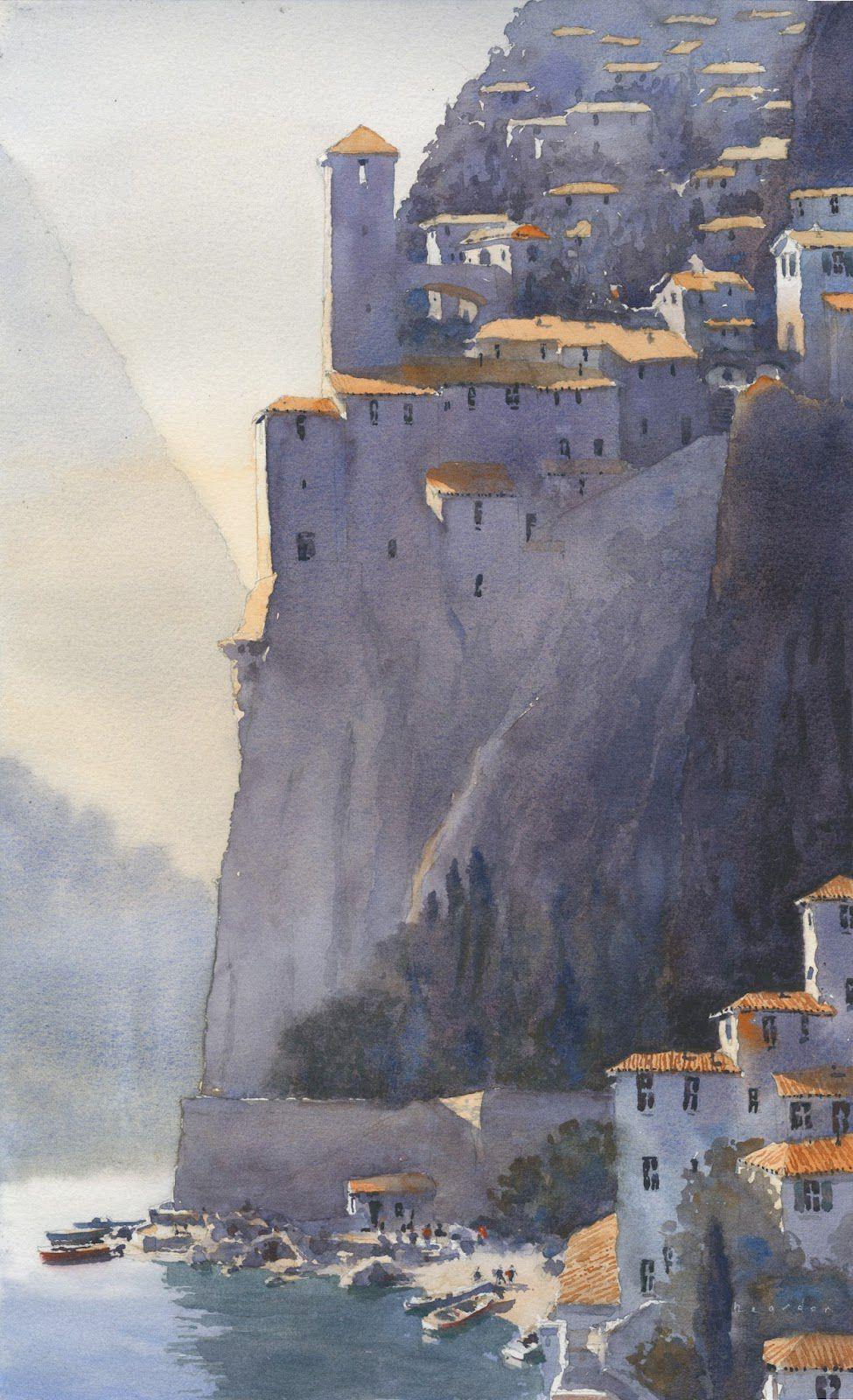 Placida by Michael Reardon, watercolor painting.