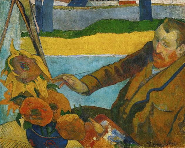 Effects of Art on Mental Health: Paul Gauguin, Vincent Van Gogh Painting Sunflowers, 1888, Van Gogh Museum, Amsterdam, Netherlands.