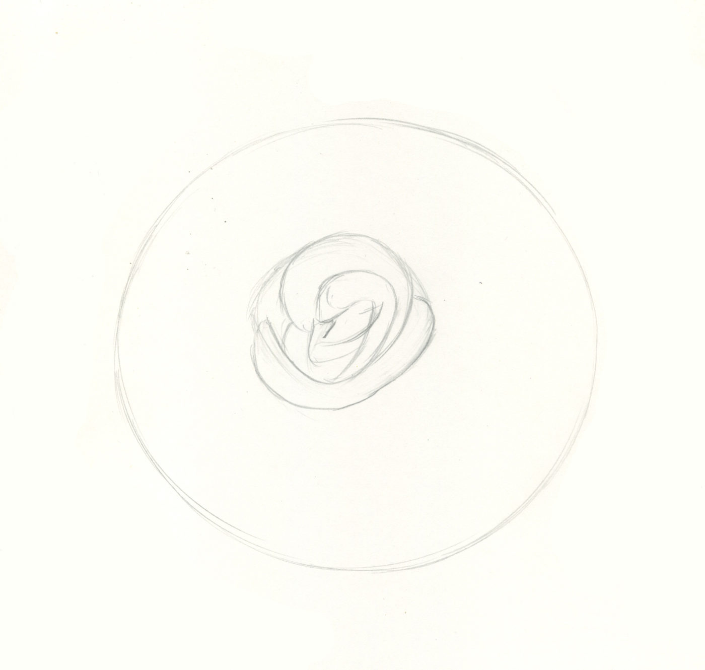 How to draw roses step 2