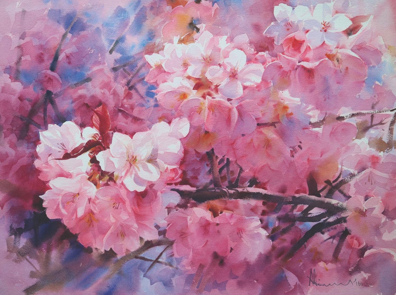 Watercolor Flowers Of Every Type From Thai Artist Adisorn Pornsirikarn