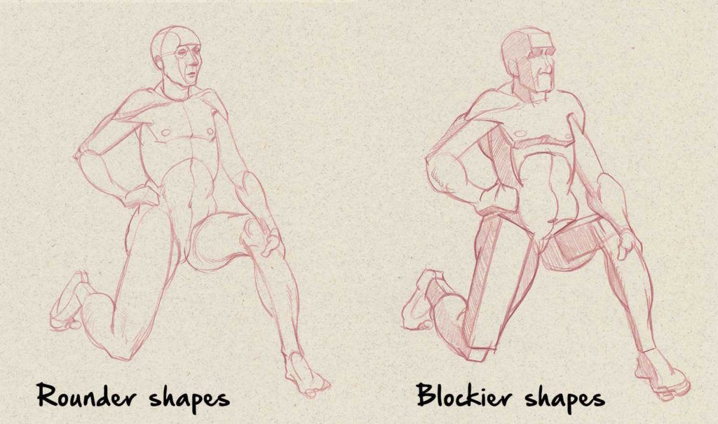 Shapes in Figure Drawing | Drawing Anatomy for Beginners: Top 5 Dos and Don'ts by Jeff Mellem | Artists Network