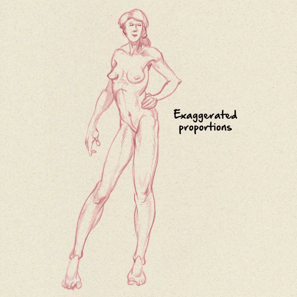 Proportions | Drawing Anatomy for Beginners: Top 5 Dos and Don'ts by Jeff Mellem | Artists Network