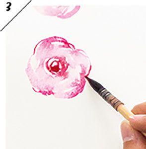 Простые акварельные цветы - розы от marie boudon шаг 3
