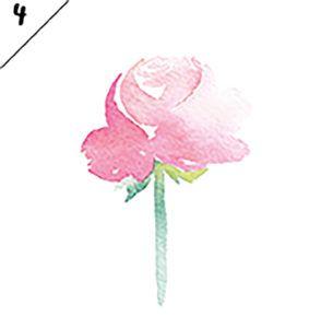 DIY Watercolor Flowers by Marie Boudon - боковой вид розы