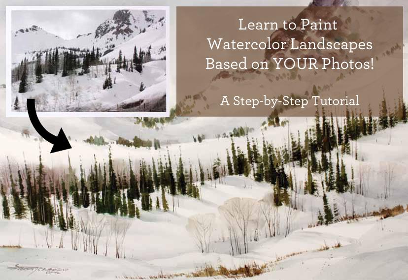 Free Watercolor Landscape Tutorials Rivets Light More