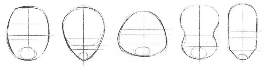 How to draw a cartoon: Cartoon-Face-Shapes