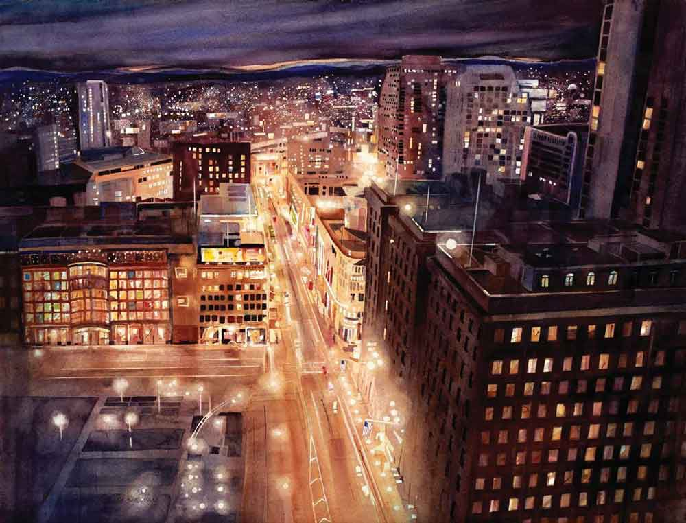 City Lights by Lynn Ferris